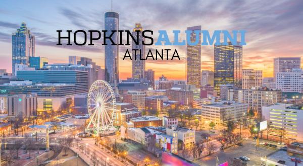 Atlanta skyline, Hopkins Alumni Atlanta