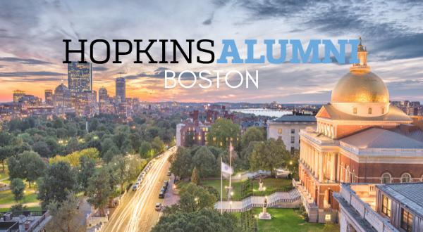 Boston skyline, Hopkins Alumni