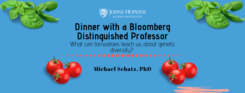 New York, NY: Dinner with a BDP, Michael Schatz - What Tomatoes Can Teach us about Genetic Diversity   header image