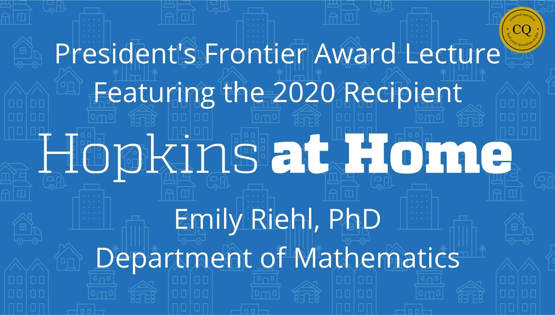 President's Frontier Award Lecture Header Image
