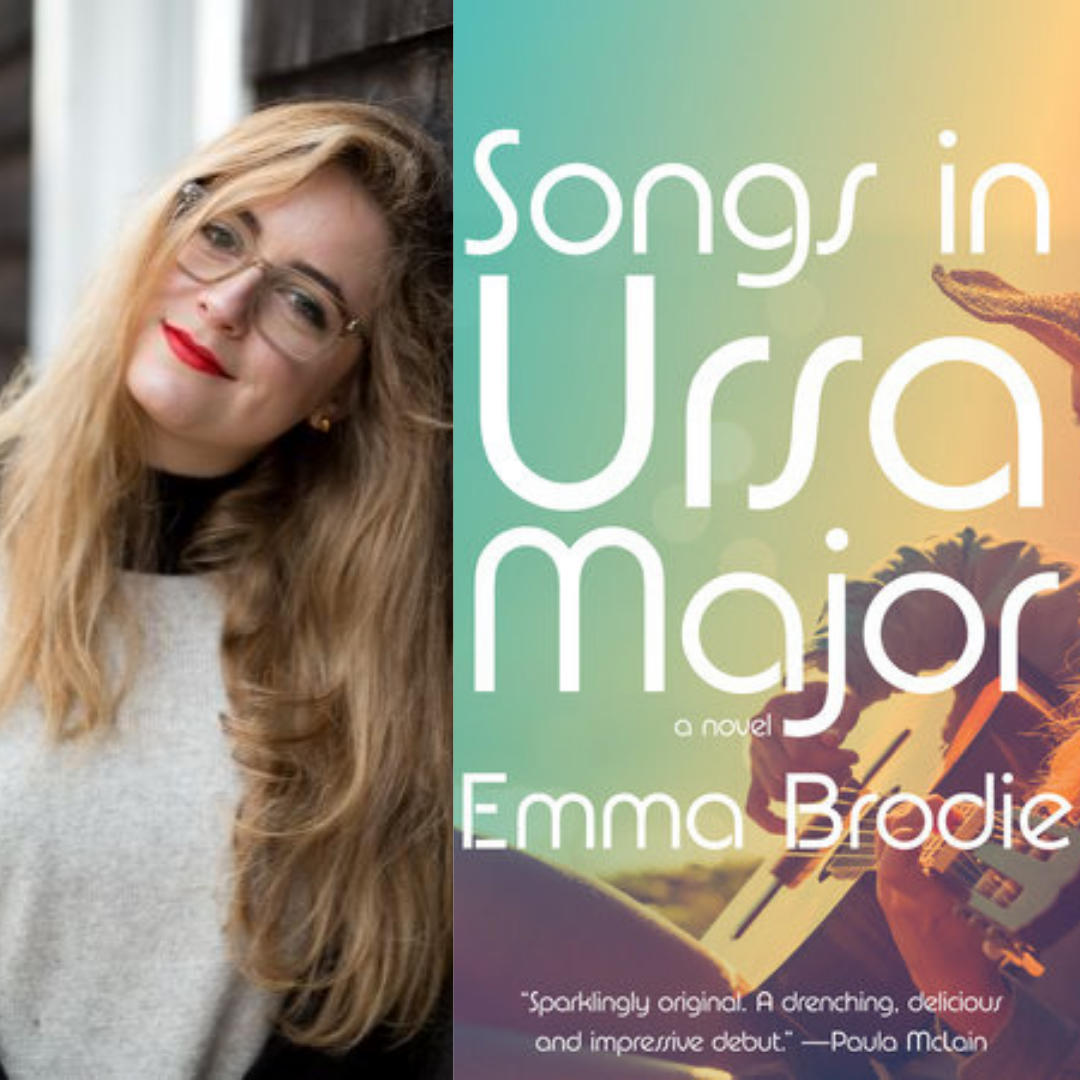 Photo of Book Cover and Emma Brodie