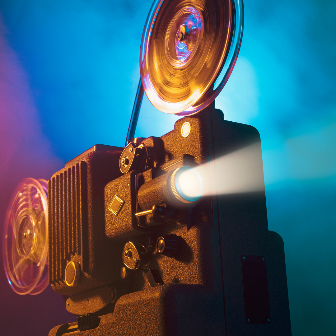 Photo of a film projector.