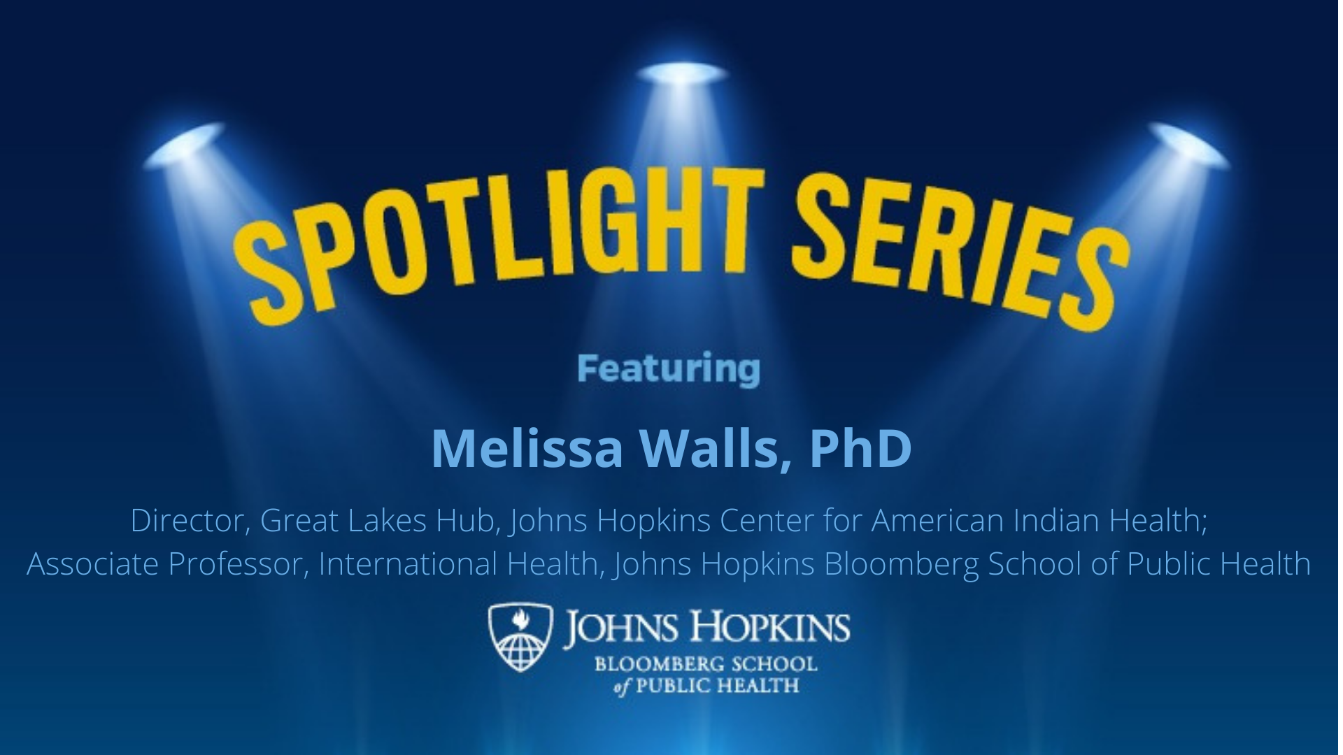 spotlight logo blue melissa walls feature