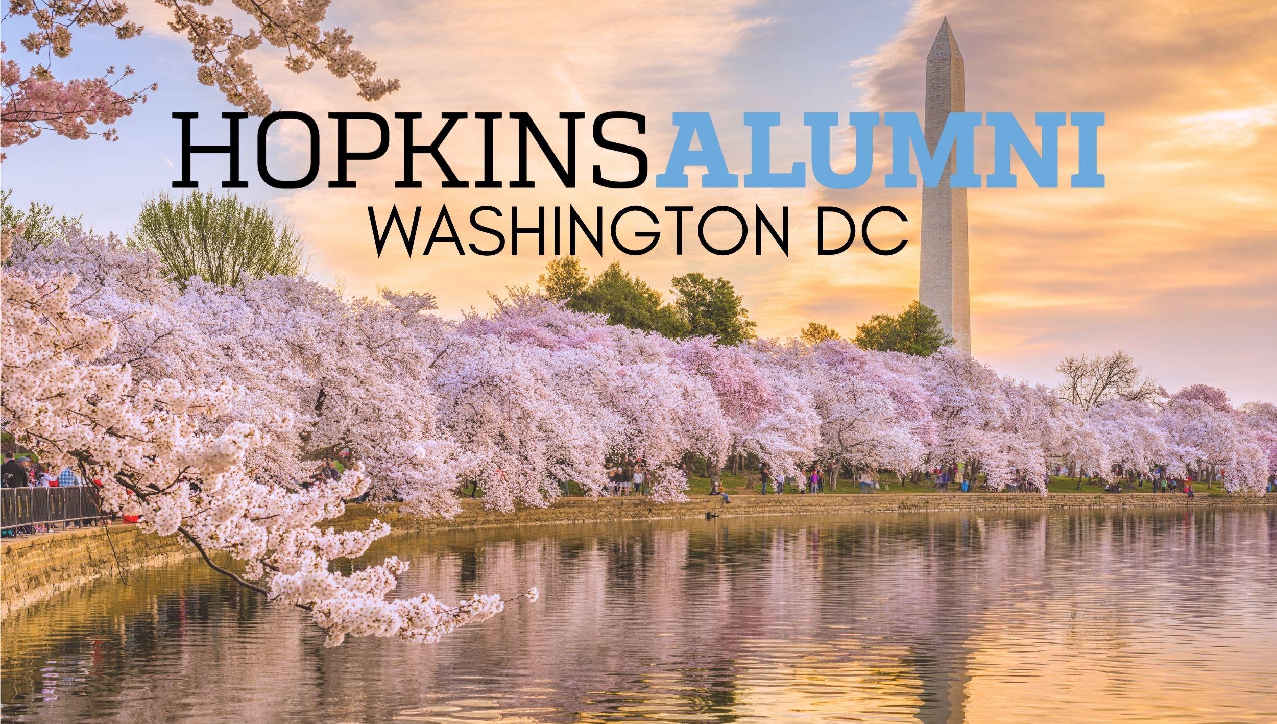 Washington DC Skyline with Hopkins Alumni Washington DC In-Person